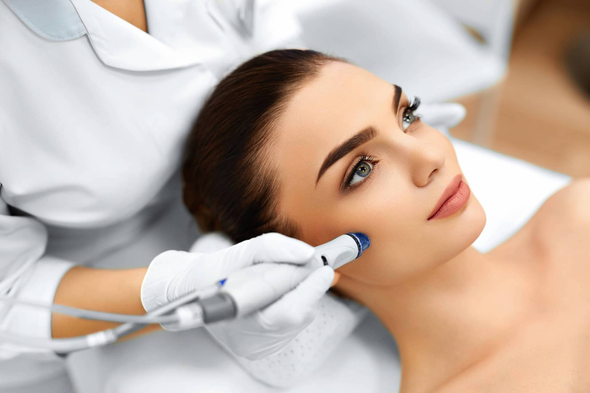 in treatment facial Using crystal a